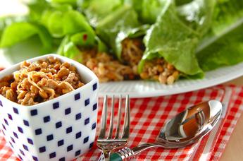 エノキ納豆のサラダ巻き