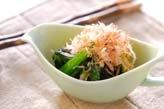 青菜のカラシ和えの下準備1
