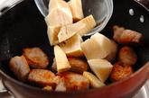 タケノコと豚肉の煮物の作り方1