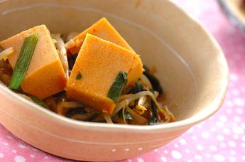 高野豆腐のピリ辛煮