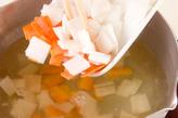 あっさり野菜の粕汁の作り方1