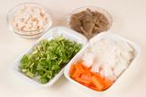 あっさり野菜の粕汁の下準備1
