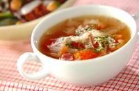 トマトのふんわり卵白スープ