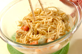アボカドとエビのスパゲティーの作り方2