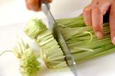 水菜と油揚げのXO醤和えの下準備1