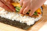 キムチ納豆巻き(恵方巻き)の作り方2