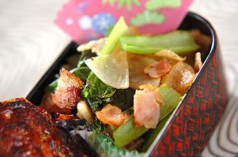 大根と小松菜の炒め物