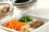 大豆と芽ヒジキの煮物の下準備1