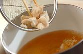 ささ身とワカメのスープの作り方1