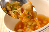キムチと大豆のスープの作り方2