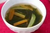 ワカメと野菜のスープ