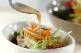 海藻サラダゴマみそドレッシングの作り方4