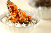 ニンジンのそぼろご飯の作り方3