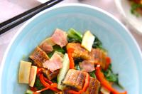 うまい菜とウナギの炒め物