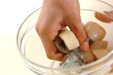 エビのナッツソースがけの下準備3