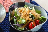 パリパリ春巻きのせサラダ