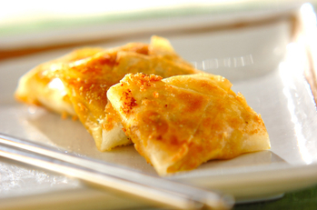 カボチャのチーズ春巻き