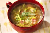 白菜とベーコンのスープ