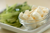 もずく長芋の酢の物の下準備1