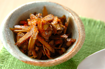 むきアサリとゴボウの甘辛煮