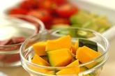 特製ソースdeローストビーフと野菜のオープンサンド♪の下準備3