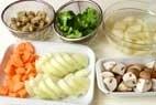 鮭のコーンシチューの作り方1
