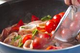 イカのトマト炒め煮の作り方2