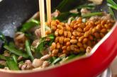 豚肉と納豆の炒め物の作り方2