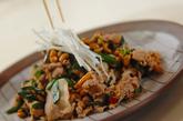豚肉と納豆の炒め物の作り方3