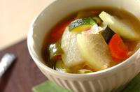 具だくさんの冬瓜スープ煮
