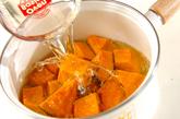 カボチャの鶏そぼろ煮の作り方1