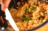 松茸炊き込みご飯の作り方3
