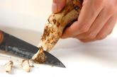 松茸炊き込みご飯の下準備3