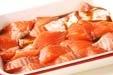 秋鮭のあんかけの下準備1