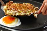 ホットプレートでお好み焼きの作り方4