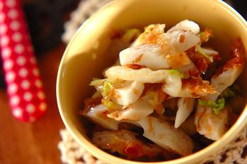 ゆで白菜とちくわの甘酢和え