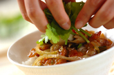 照り焼き中華ポーク丼の作り方3