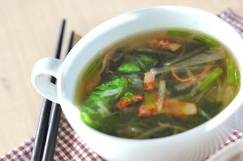 ベーコンと大根のスープ