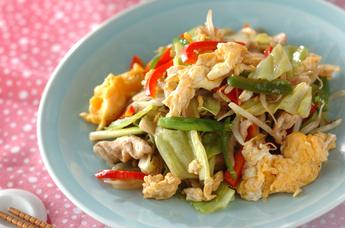 卵入り彩り野菜炒め