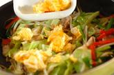 卵入り彩り野菜炒めの作り方3