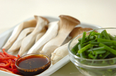 エリンギの焼肉風炒めの下準備1