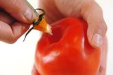 トロトロトマト丼の下準備1
