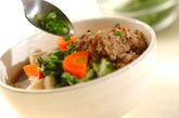 肉団子と野菜の煮物の作り方4