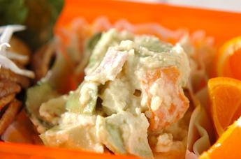 アボカドとポテトのサラダ