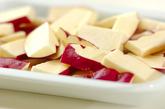サツマイモとキノコの炒め物の作り方1