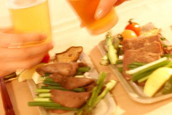 牛タンと野菜の網焼き