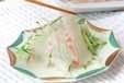 鯛のお造りサラダ風の作り方1