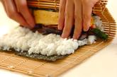 カンピョウの巻き寿司の作り方5