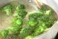ブロッコリーのゴマ和えの下準備1