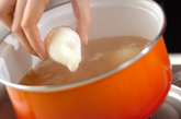 温泉卵のお吸い物の作り方1
